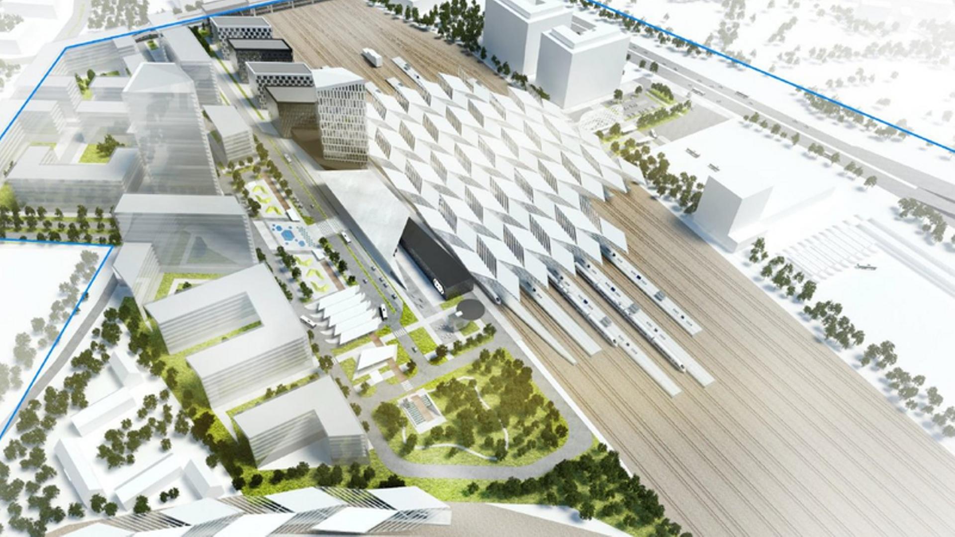 Kolejny etap prac przy budowie nowej stacji Warszawa Zachodnia rozpocznie się 26 marca [FILM]
