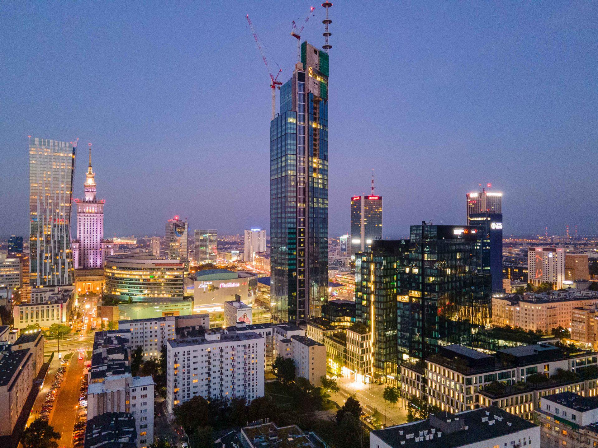 W Warszawie trwa budowa Varso Tower, najwyższego budynku w UE [FILM + ZDJĘCIA]