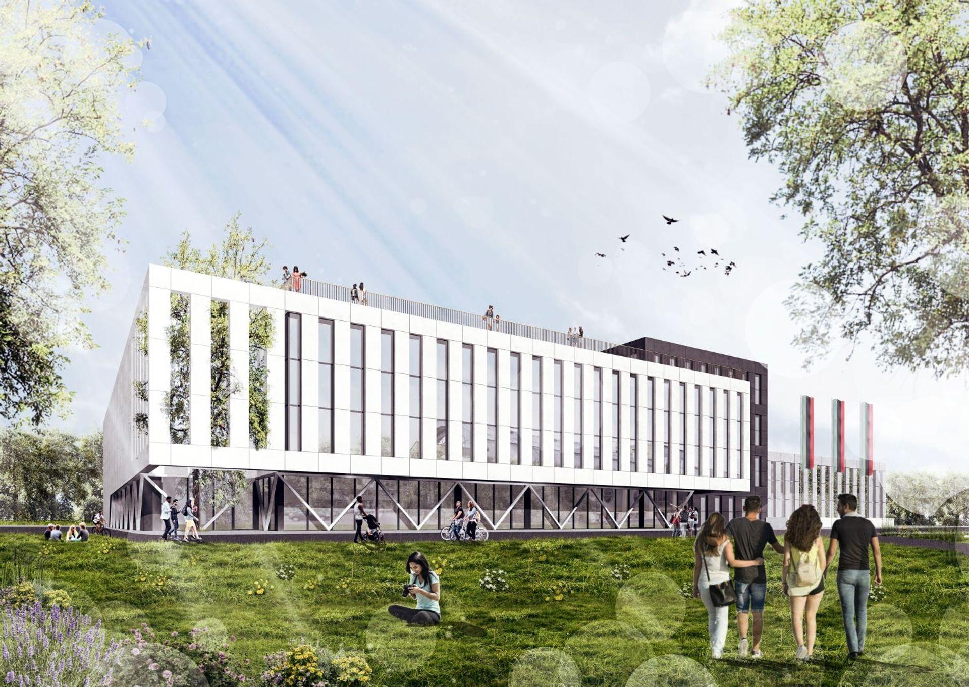 W Krakowie trwa budowa nowej wielofunkcyjnej hali sportowej Akademii Górniczo-Hutniczej [ZDJĘCIA + WIZUALIZACJE]