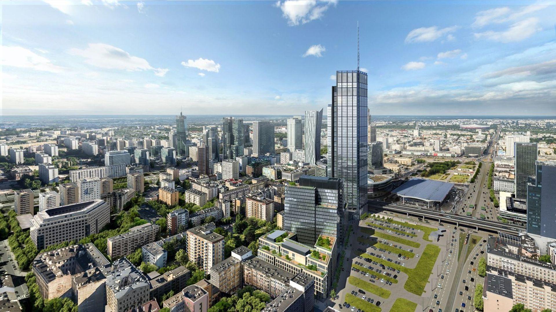 W Warszawie trwa budowa 310-metrowej wieży Varso Tower [FILM]
