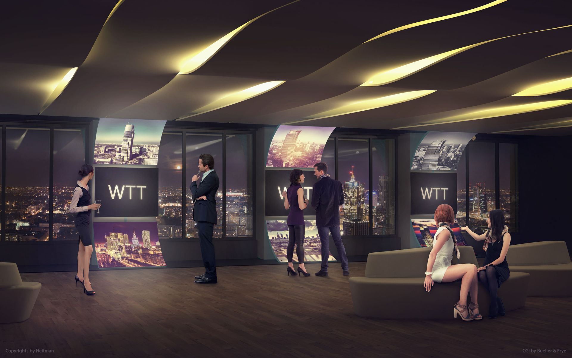 [Warszawa] 35 piętro Warsaw Trade Tower. Nowa przestrzeń biznesowo-kulturalna na warszawskiej mapie