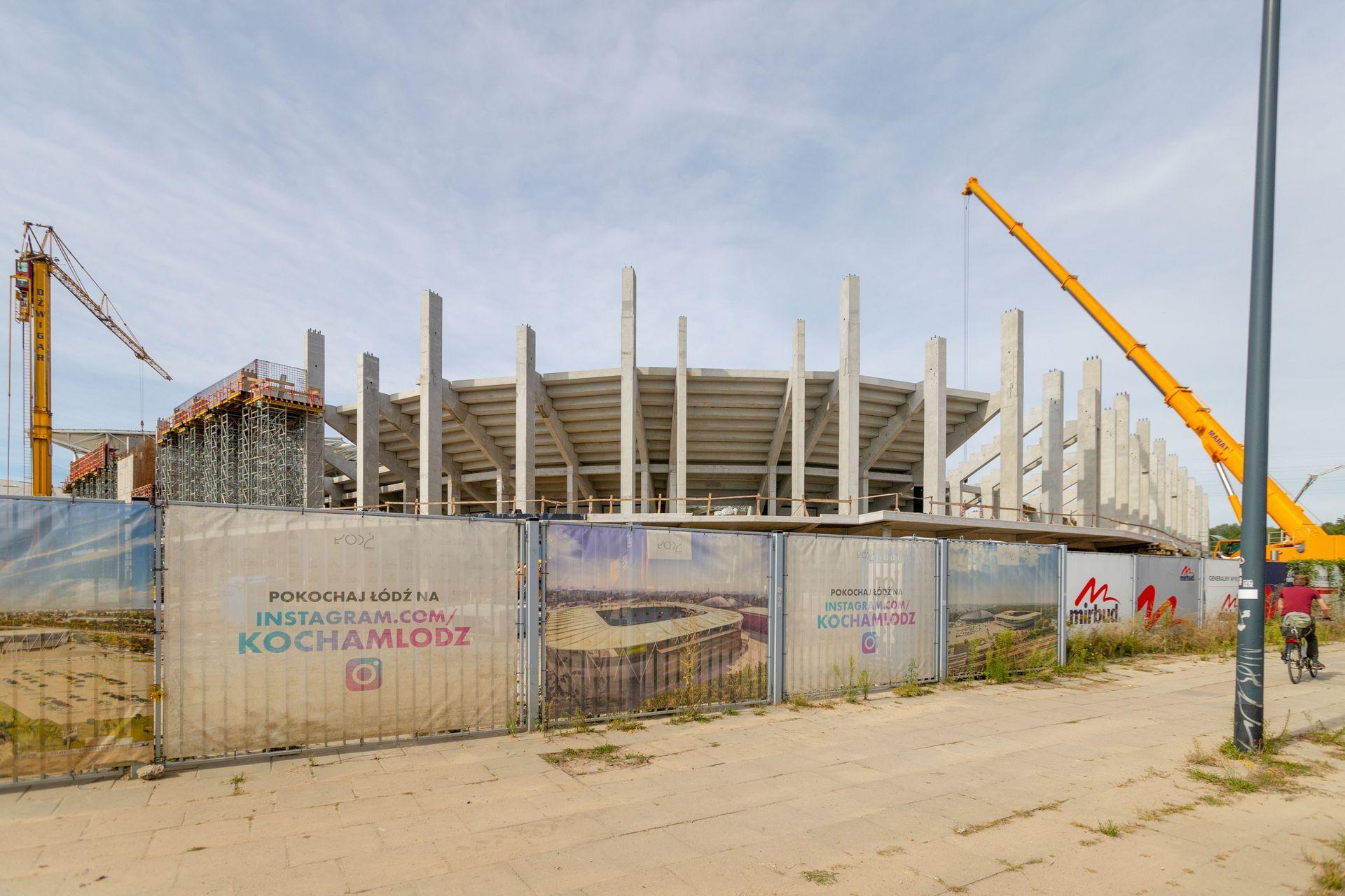 Łódź: Budowa stadionu ŁKS idzie zgodnie z planem