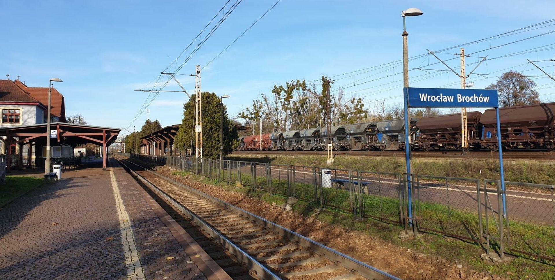 Rozpoczęła się przebudowa przystanku kolejowego Wrocław Brochów