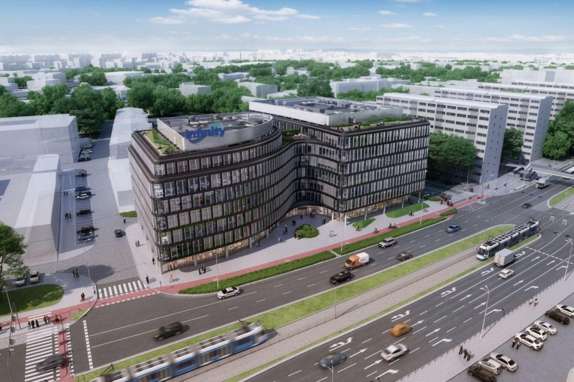 W centrum Wrocławia trwa budowa nowego biurowca [FILM + ZDJĘCIA + WIZUALIZACJE]