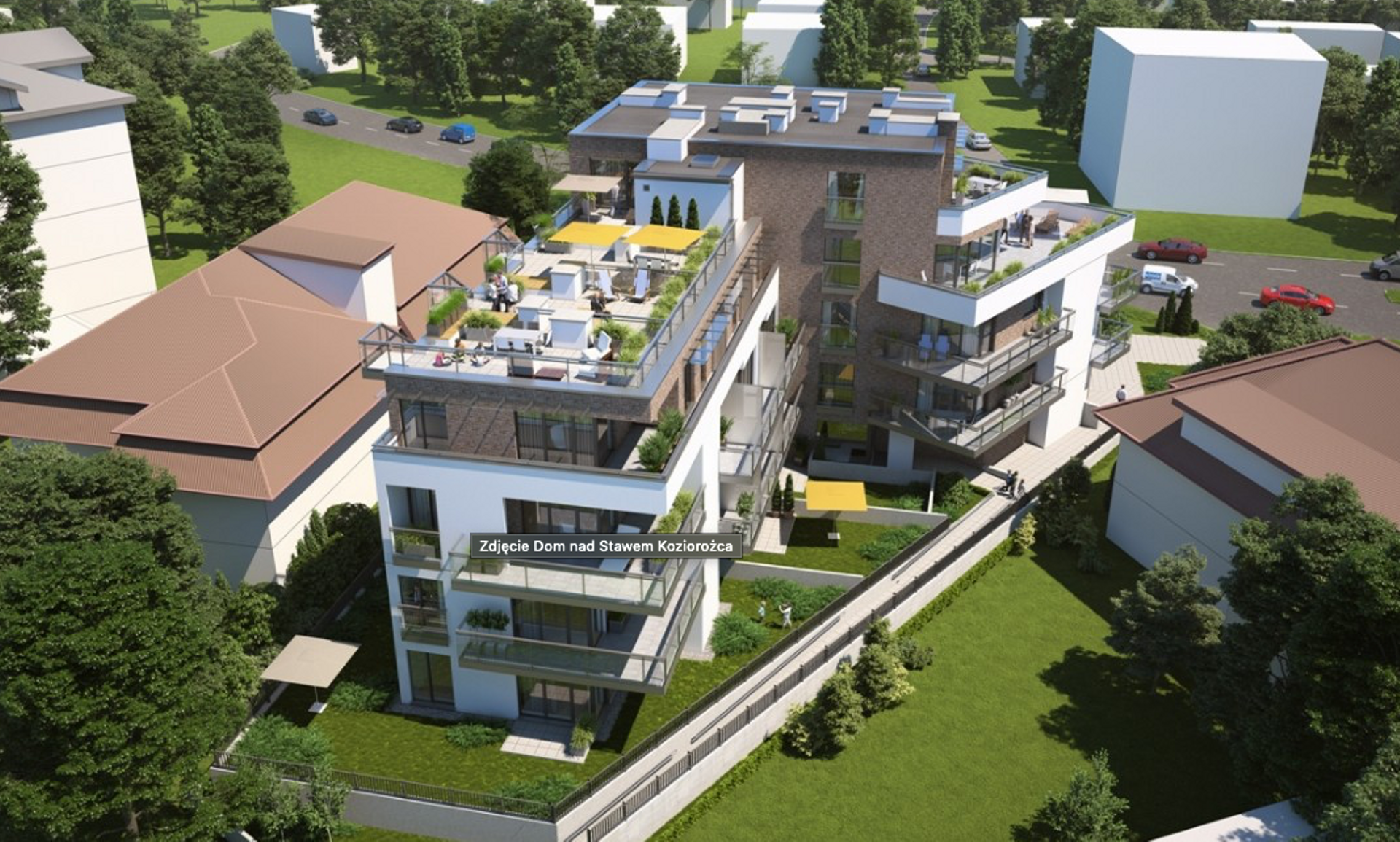 Warszawa: Dom nad Stawem Koziorożca – powstają mieszkania przy parku i nad wodą